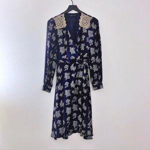 Betsey Johnson Silk Wrap Dress | Size 8